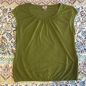 Worthington olive green dressy top